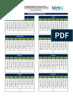 Calendário Escolar - Ano Letivo 2019
