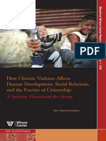 How Chronic Violence Affects Human Development, Social Relations, and the Practice of Citizenship