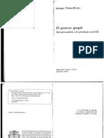 PICHON RIVIERE - CAP. Estructura de Una Escuela y Discepolo en PROCESO GRUPAL