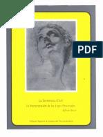 La Sentencia Civil - La Interpretacionde Las Leyes Procesales - PDF