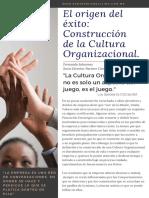 Artículo El Origen del Éxito. Construcción de Cultura Organizacional