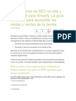 Macrotutorial de SEO on Shopify