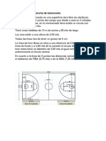 Medidas de Una Cancha de Baloncesto