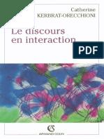 Le Discours en Interaction - Catherine Kerbrat-Orecchioni