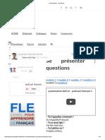 Se Présenter _ Questions