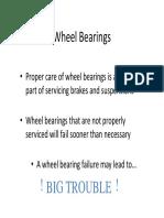Wheel Bearing inspection