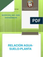 Relación Agua - Suelo - Planta
