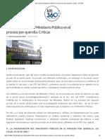 La Intervención Del Ministerio Público en El Proceso Por Querella_ Críticas - IUS 360