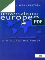 Wallerstein Universalismo Europeo