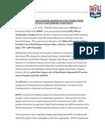 NFL ALUMNI ASSOCIATION And REVOLUCION WORLD WIDE ANNOUNCE PARTNERSHIP AGREEMENT