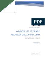 Windows Üzerinde Archman Linux Kurulumu
