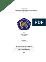 Case Report Open Fraktur Galeazzi Dextra