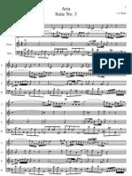 Bach Aria suite en ré SATB