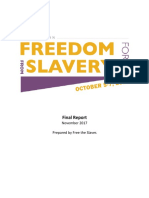 2017 Freedom From Slavery Forum Final Report