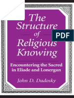 John D Dadosky - THE STRUCTURE OF RELIGIOUS KNOWING