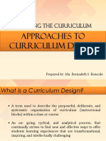 Curriculum Design