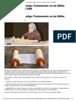 A Formação Do Antigo Testamento Ou Da Bíblia Hebraica - Portal SBB