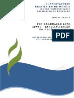 Conservatório Brasileiro de Música - Edital 2019 - Pós-Graduação em Regência Coral