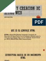 Diseño y Creacion de Sitios Web