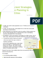 Energy Efficient Strategies for Urban Planning in Cities