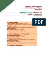 LAMPEA-Doc 2010 – numéro 33 / Vendredi 22 octobre 2010