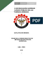 Explotacion Superficial Silabo Minas