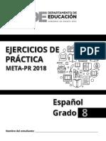 Ejercicio de Practica de Las Pruebas Meta 2018 Espanol 8