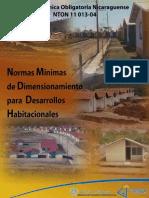 Normas Mínimas de Dimensionamiento para Desarrollos Habitacionales