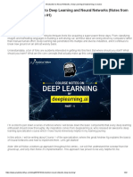 Introduction to Neural Networks, Deep Learning (Deeplearning.ai Course)