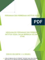 Persamaan Dan Perbedaan Institusi Sosial