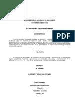 Codigo de Procedimiento Penal de GUATEMALA