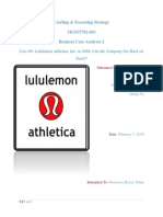 Case #2 Lululemon Athletica Inc.