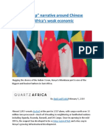 "The ""debt-trap"" narrative around Chinese loans shows Africa's weak economic diplomacy.docx"