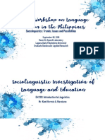 Sociolinguistic Investigation of Language and Education