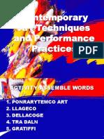 Contemporary Arts Techniques and Performances