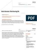 Ideal Clearance,Ideal Bearing Life for Pumps