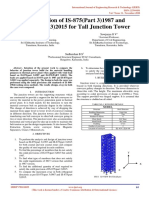 Comparision of is 875part 31987 and is 875part 32015 for Tall Junction Tower