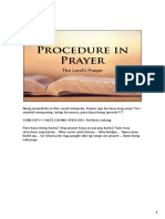 Procedure in Prayer