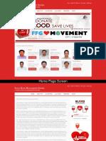 Blood Bank Management System Screens