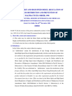 The Motor Spirit and High Speed Diesel (Regulation of Supply and Distribution and Prevention of M_0