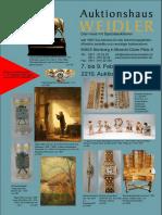 Catalogue de la vente aux enchère du 9 février 2019 à la maison Weidler, Nuremberg.