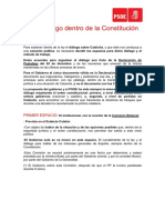 Argumentario del PSOE sobre Cataluña
