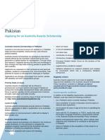 Australia Awards Pakistan Information for Intake