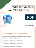 2 - Relações Humanas No Trabalho