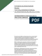 Antrenamentul Bolnavilor Cu Afectiuni Cardiace - Blog - Fitness Scandinavia