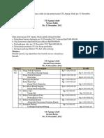 Berikut ini adalah contoh neraca saldo da data penyesuaian UD Agung Abadi per 31 Desember 2012.docx