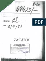 Časť dokumentov ŠtB o Petrovi Kresákovi