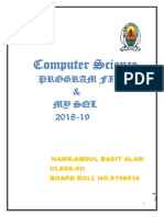 computer science practical file