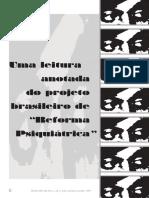 """Uma leitura anotada do projeto brasileiro de """"Reforma Psiquiátrica"""""""