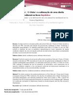'Folha de S. Paulo', 'O Globo' e a Afirmação de Uma Direita Neoliberal Na Nova República